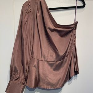 Maddison one shoulder silk top